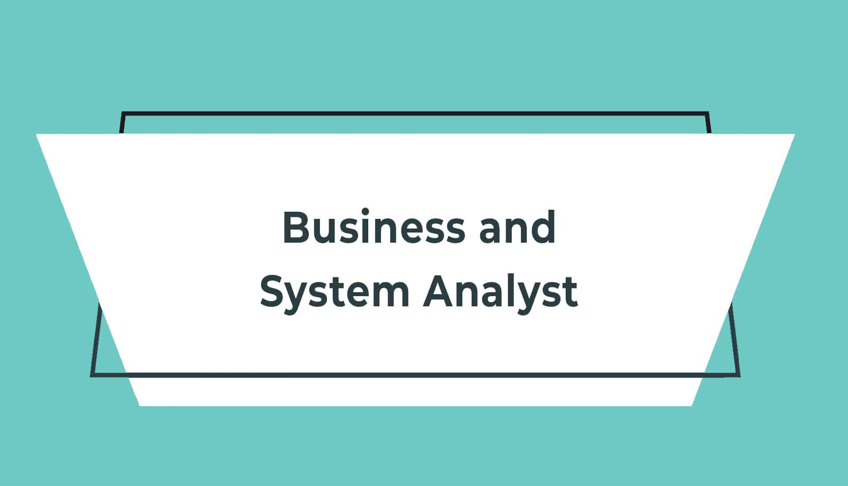 JD adverts V2 Business and System Analyst
