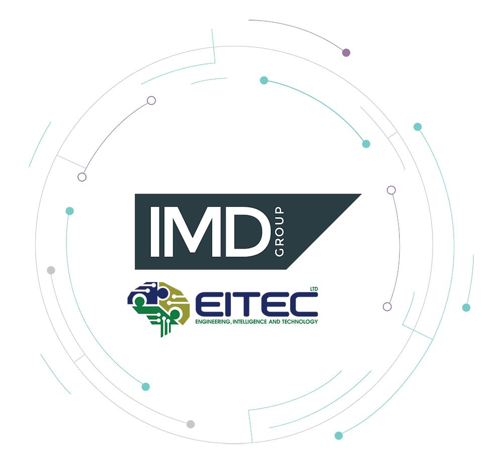 IMD Group and EITEC logos inside a circular shape